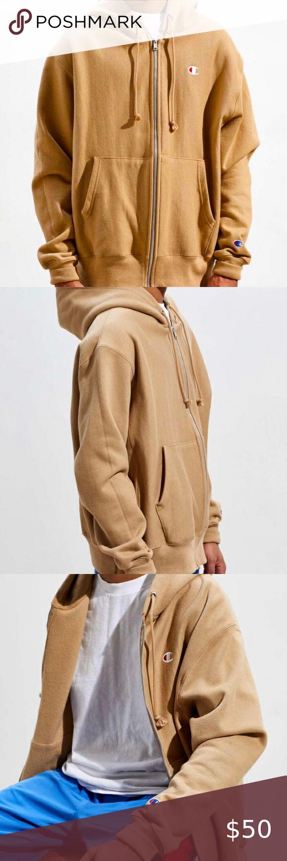Champion Reverse Weave Zip Up Hoodie Tan Khaki Nwt Sweatshirt Outfit Men Hoodies Men Champion Reverse Weave [ 1740 x 580 Pixel ]