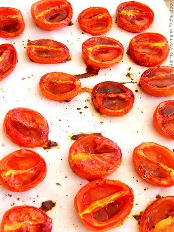 18 Fresh Tomato Recipes - use up your tomato harvest.  Includes recipes for oven dried tomatoes (can be frozen in baggies) and ketchup