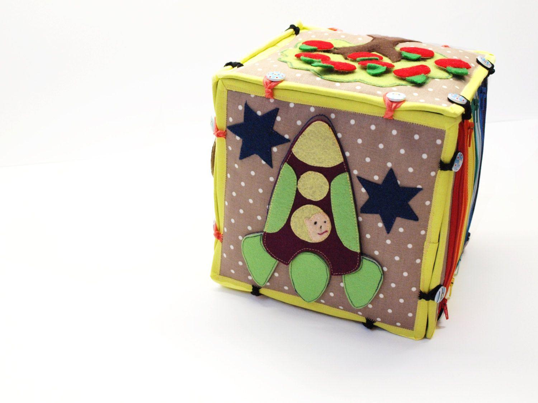 Activity sensory toy developing cube set of by SerZiHandicrafts