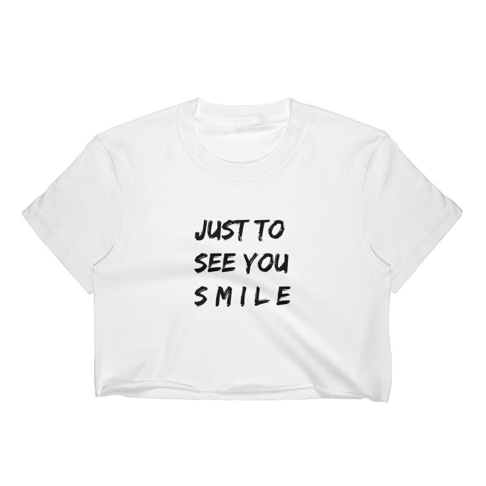 66fb88a81f61b9 Just To See You Smile Women s Crop Top why don t we music 8 letters album  invitation tour limelight zach herron jack avery daniel seavey corbyn  besson jonah ...