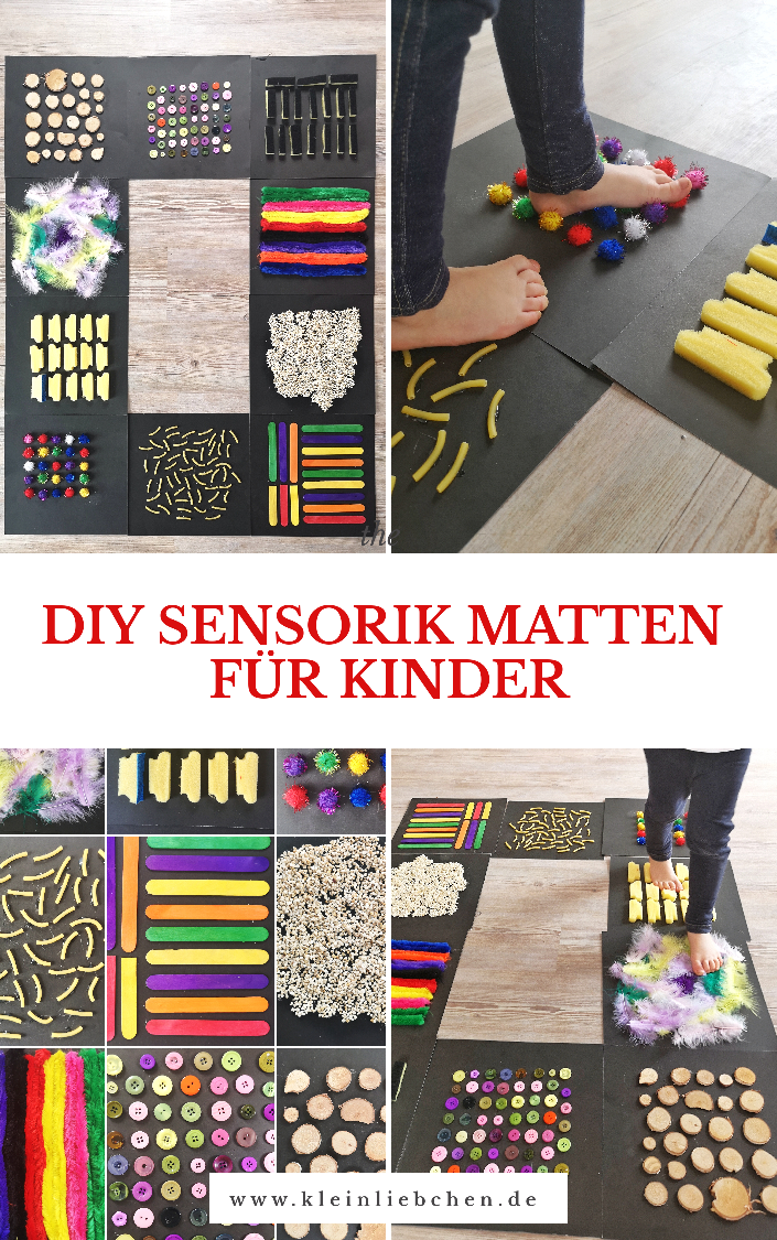 Photo of DIY sensor mats for children – sensory perception with the feet