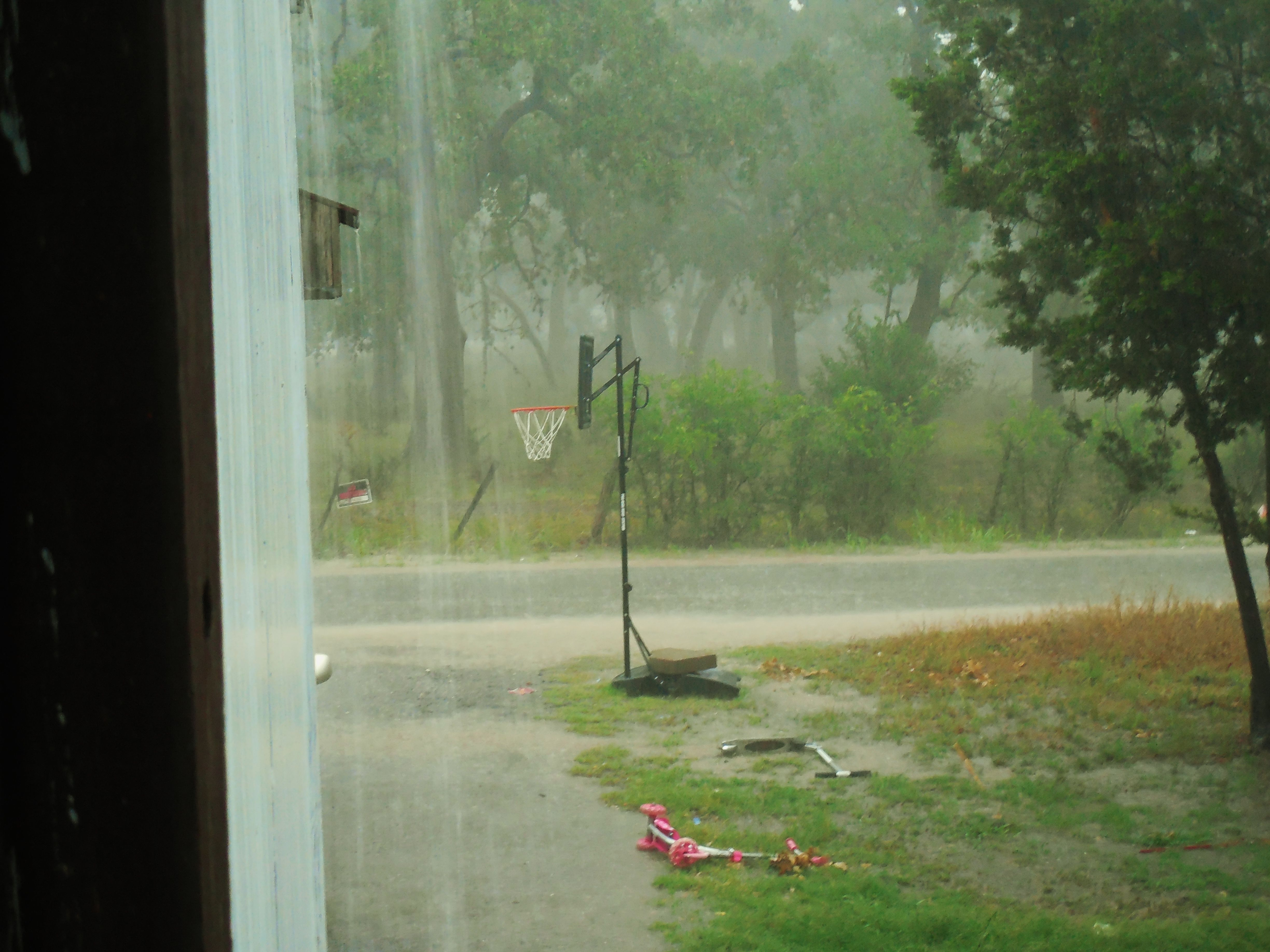 Sweet Lord I love rain SO very much. It's just been so Long since we've seen any. No one was watching T.V. we all watched the rain instead feeling excited and Joyful. This rainstorm made us realize that our children have lived their whole lives in  drought