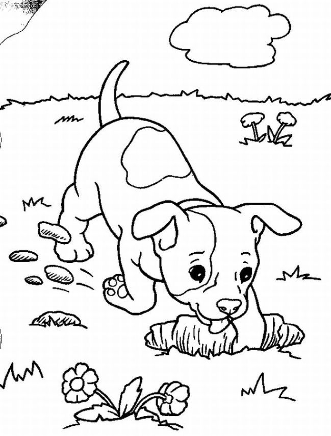 puppy coloring sheet | Puppy love coloring pages displayed a sense ...