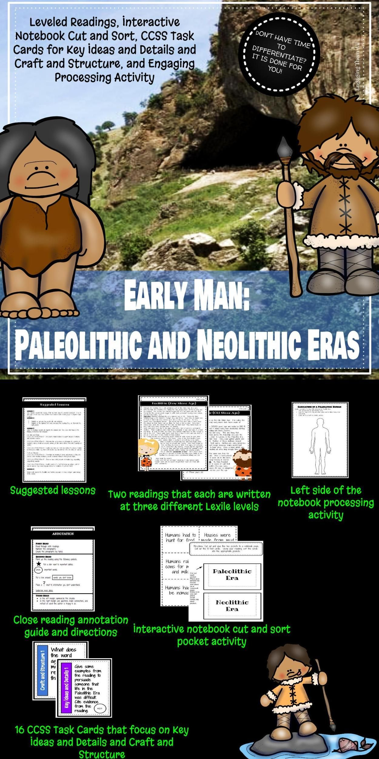 Paleolithic And Neolithic Leveled Readings And Interactive