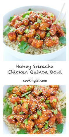 Photo of Honey Sriracha Chicken Quinoa Bowl – #Bowl #Chicken #Honey #Quinoa #Sriracha