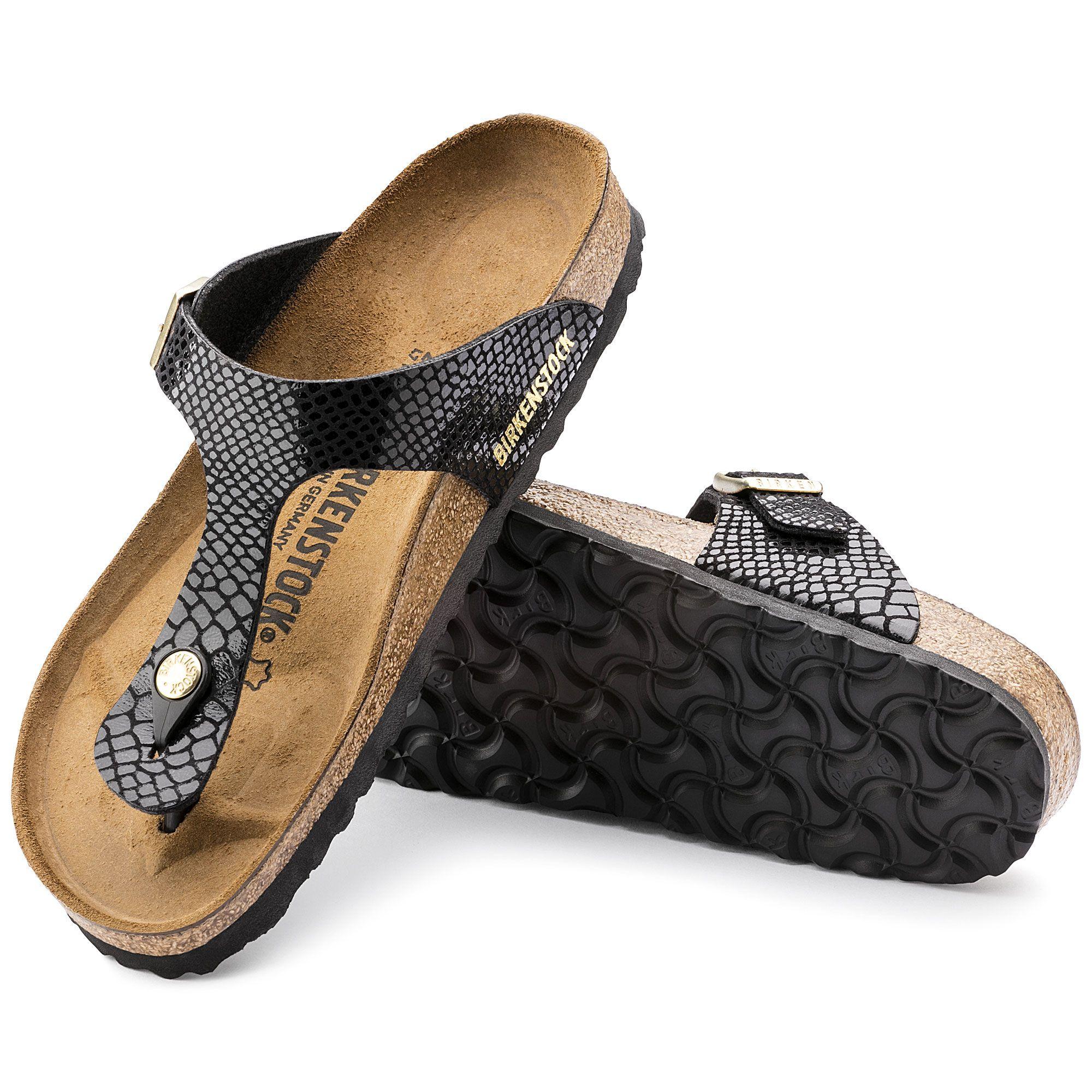 Gizeh Birko Flor Shiny Snake Black   Fashion, Shoes