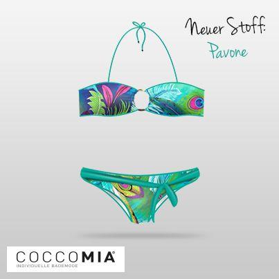 """Pünktlich zum #Sommeranfang sind unsere weiteren zwei neuen Stoffe eingetroffen! Trendy Muster """"Pavone"""" schaut mal vorbei: coccomia.de"""