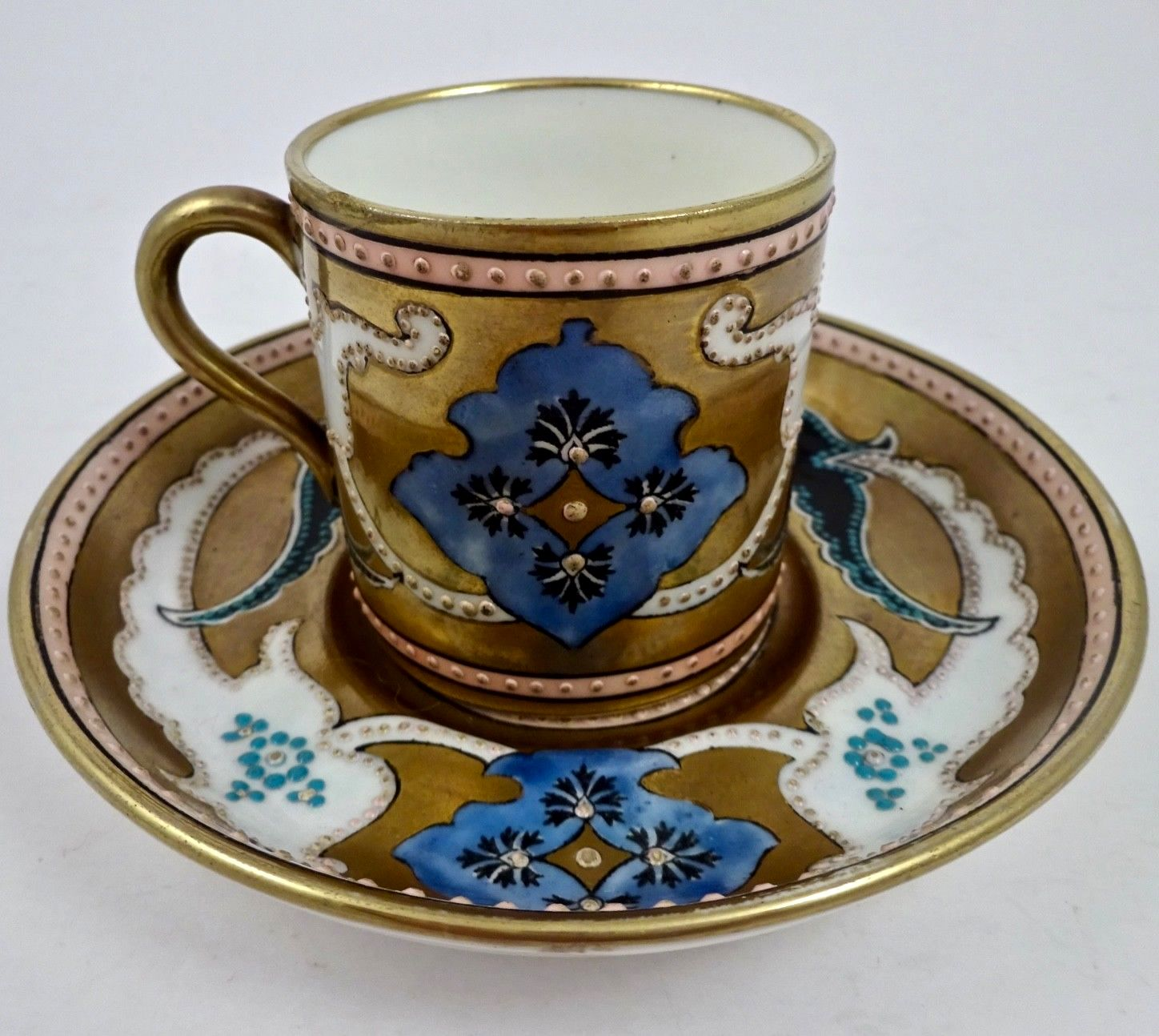 Hard To Find Royal Adderley Demitasse Cup And Saucer Set Jeweled
