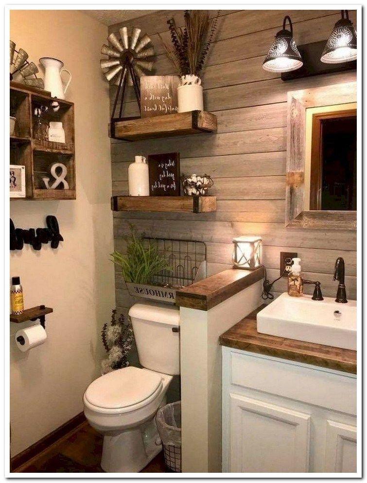 53 Suprising Small Bathroom Design Ideas And Decor 46 Farmhouse