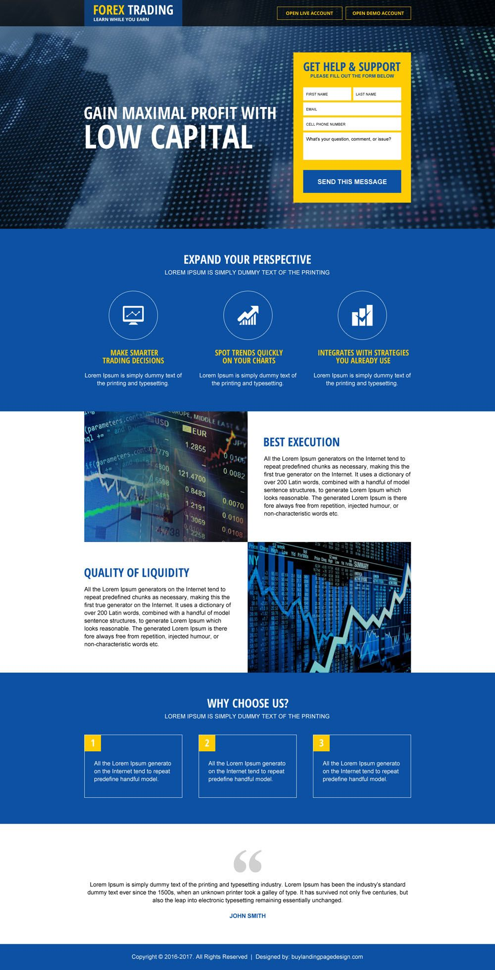 Top Forex Brokers Lead Generating Landing Page Design Graphics