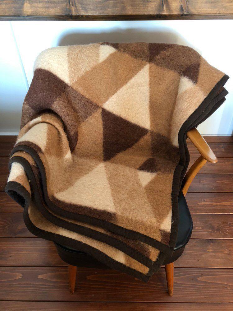 Grosse Didas Vintage Retro Wolle Kariert Decke 60er 70er Jahre Etsy Fluffy Blankets Acrylic Blanket Vintage Blanket