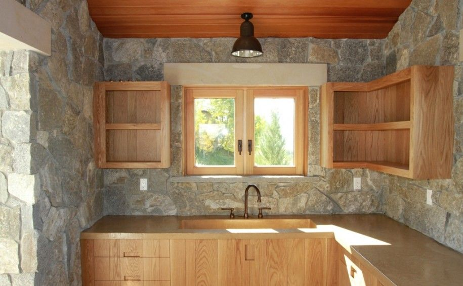 Images Of Kitchens With Stone Walls And Wood Doors | ... Interior Stone  Veneer