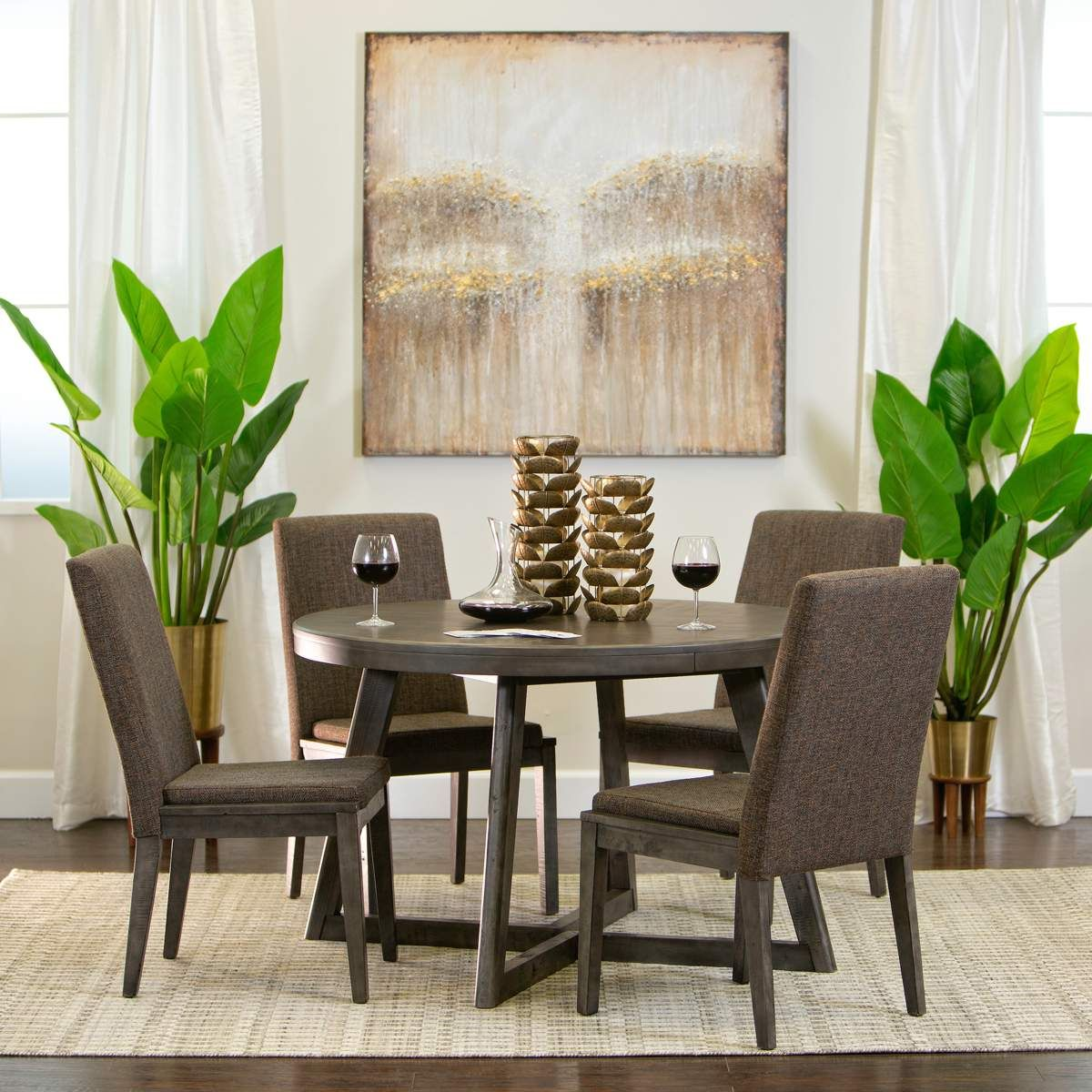 Casual Modern Dining Room: Nelson Dining Table & 4 Chairs