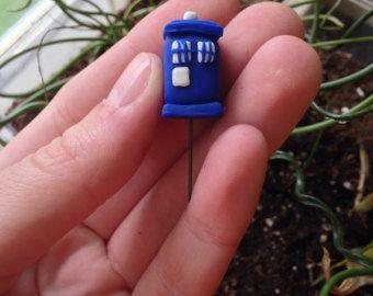 Tiny TARDIS Miniature Terrarium Fairy Garden Accessory Decoration