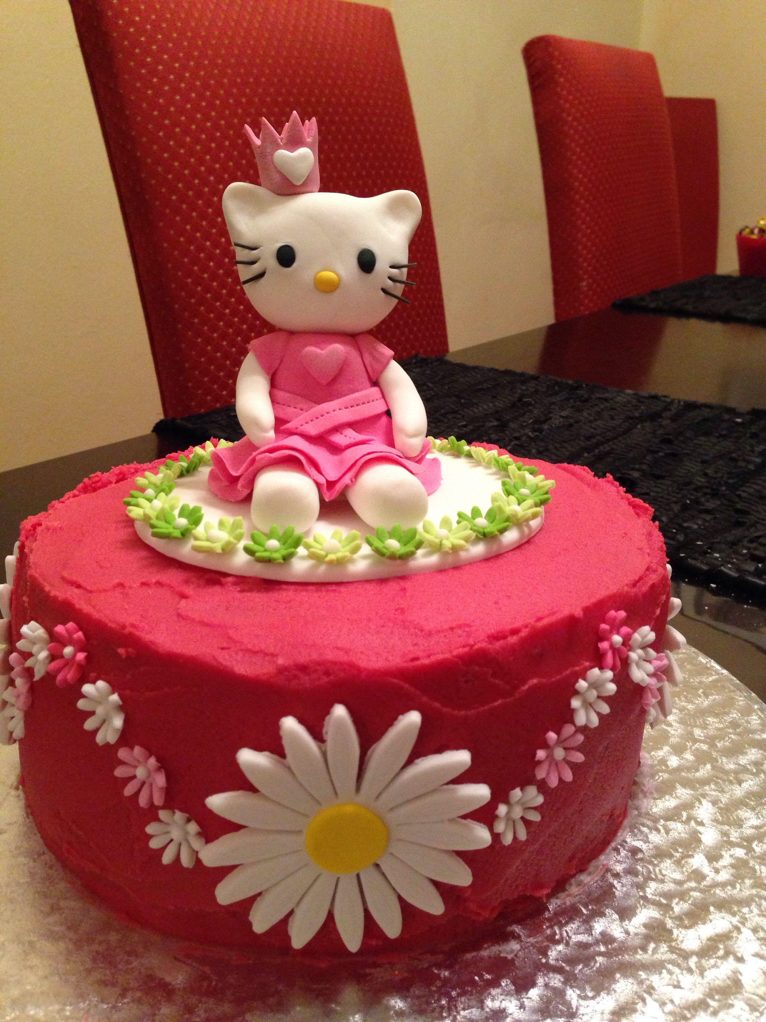 Hello kitty princess cake | Princess cake, 1st birthday ...