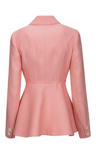 Wool And Silk Twill Peplum Jacket by BALLY for Preorder on Moda Operandi