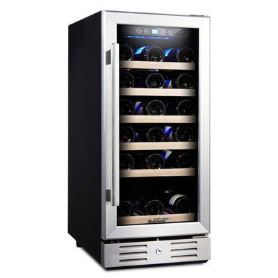 Kalamera 30 Bottle Single Zone Built In Wine Cooler Products Built In Wine Cooler Wine Refrigerator Best Wine Coolers