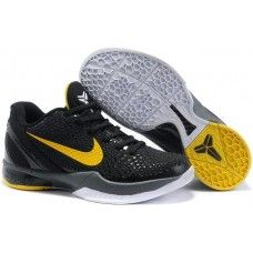 best loved 118c9 b1901 Women Kid Nike kobe 6 Black Mamba black yellow shoes for sale