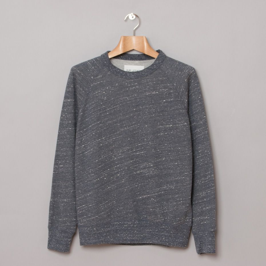 Our Legacy Great Sweat 50's in Navy Boucle