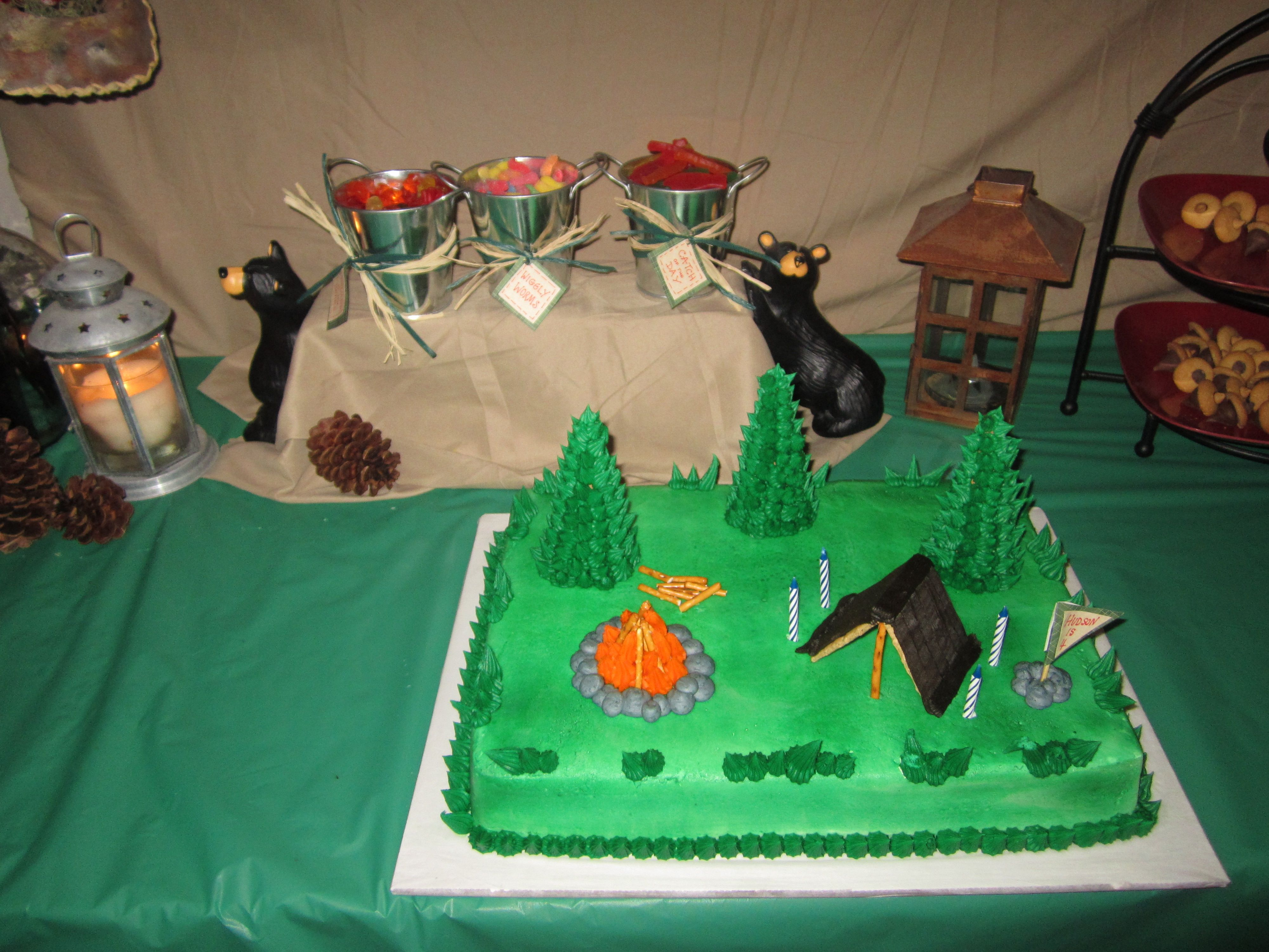 Camping Outdoor Birthday Party For 4 Year Old Boy Parties