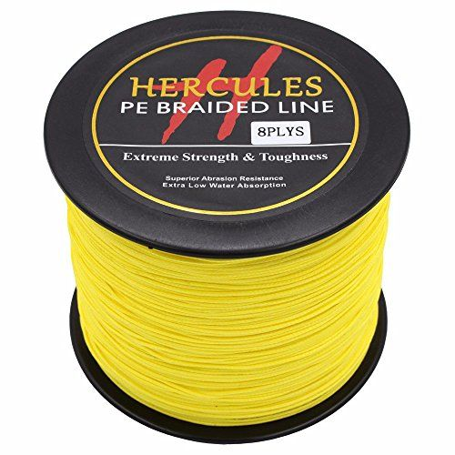 Fishing 300m 328yds Yellow 10lbs 300lbs Hercules Pe Dyneema