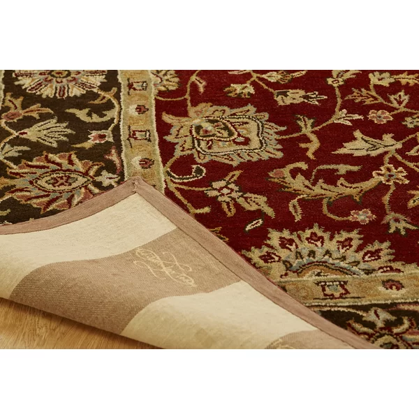Bir Hand Tufted Wool Red Brown Green Area Rug Area Rugs Rugs