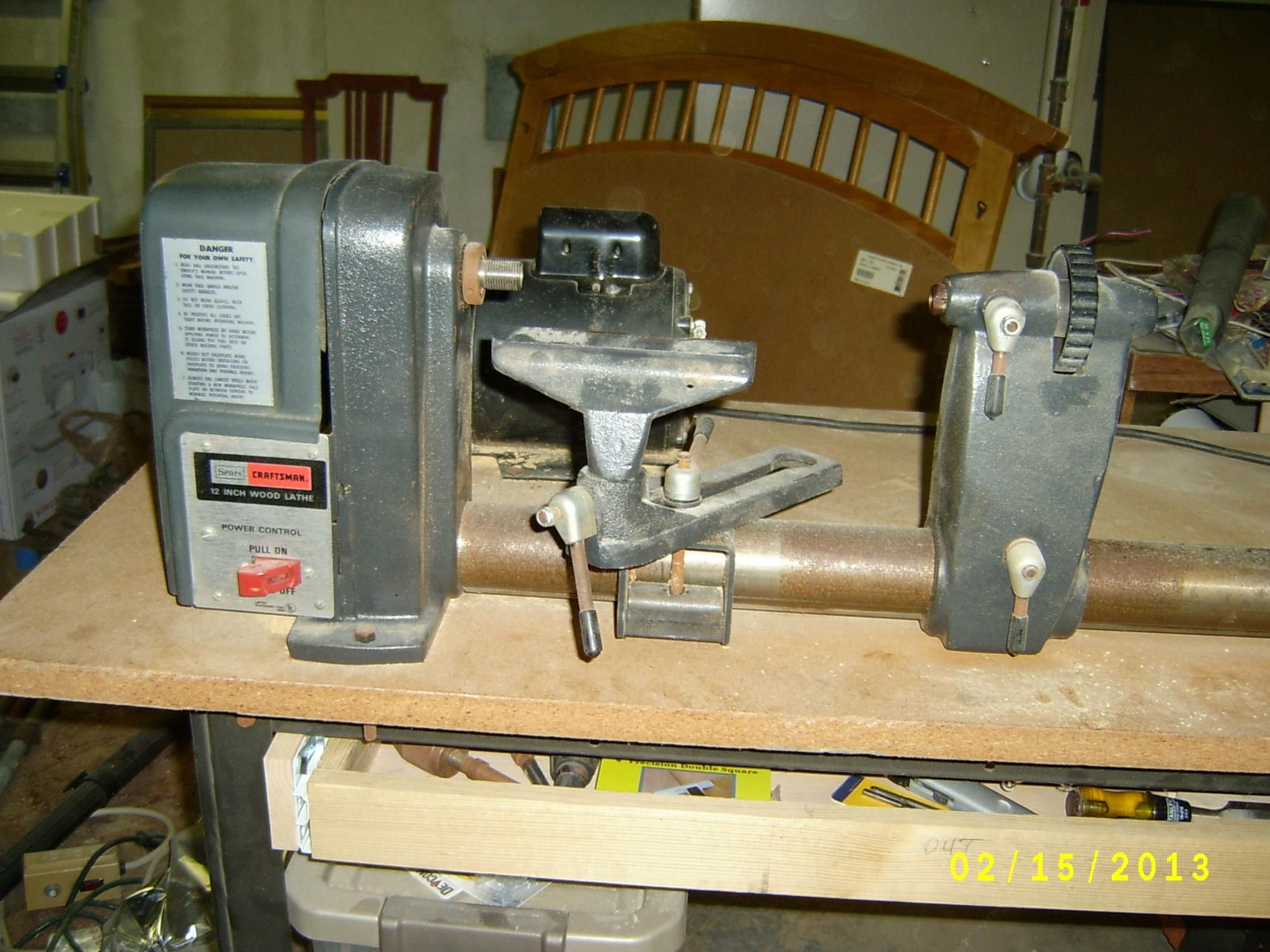 Wood Lathe Pulley Craftsman Turning Cable Machine