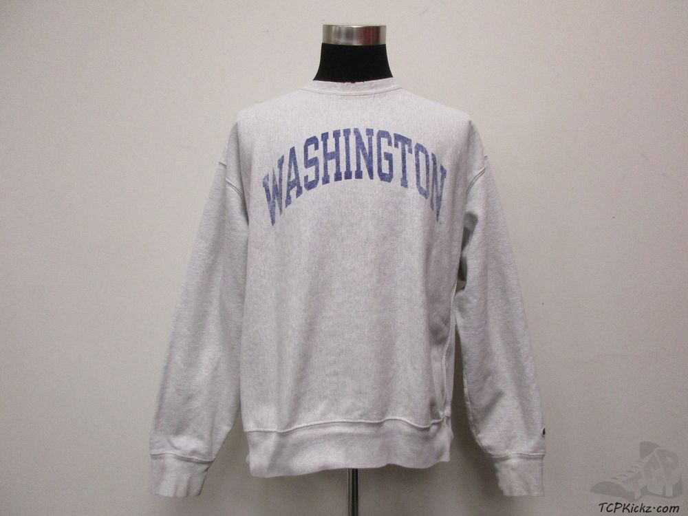 Champion REVERSE WEAVE Washington Huskies Crewneck Sweatshirt sz XL Extra Large #Champion #WashingtonHuskies