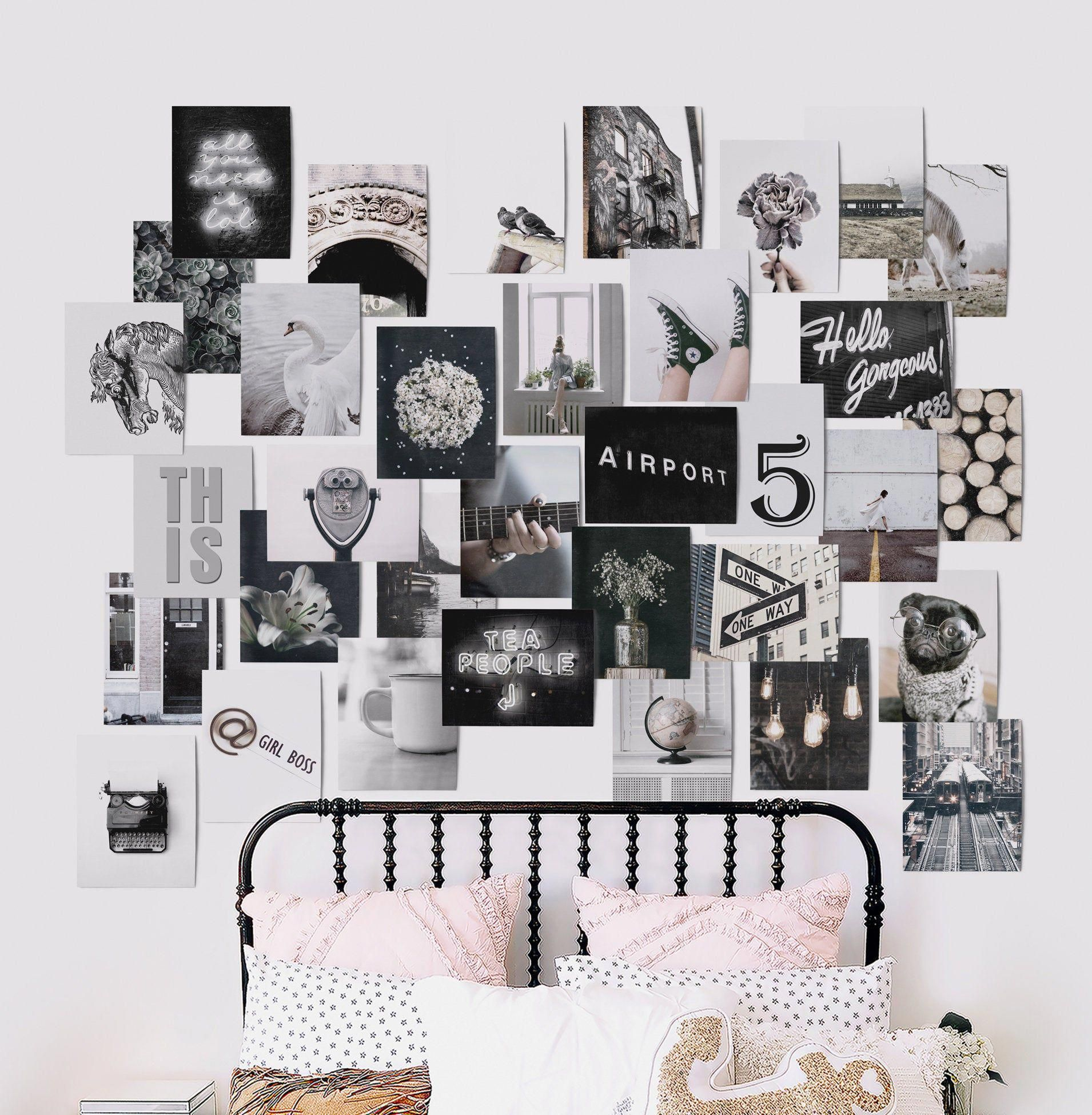 Athomedecor Bedroom Wall Collage Black And White Photo Wall White Bedroom Decor