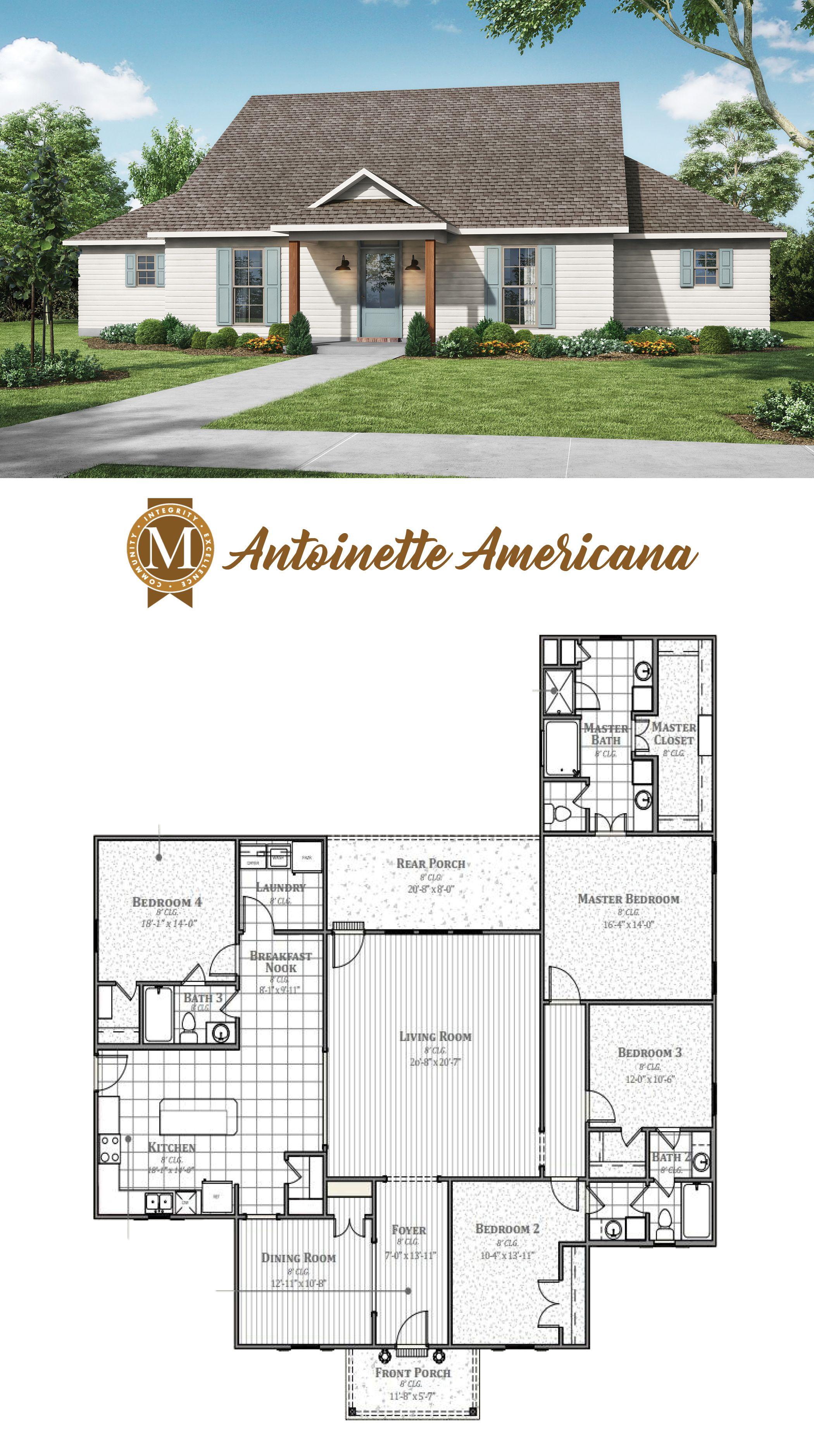 Antoinette Americana My House Plans Craftsman House Plans House Plans