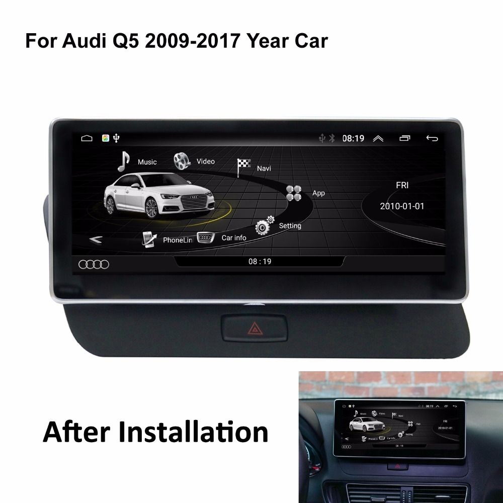 Tesla Horizontal Style Android Car Radio For Audi Q5 2009 2017 Price 466 99 Free Shipping 3 Year Warranty On Android Units Andro Audi Q5 Audi Car Radio