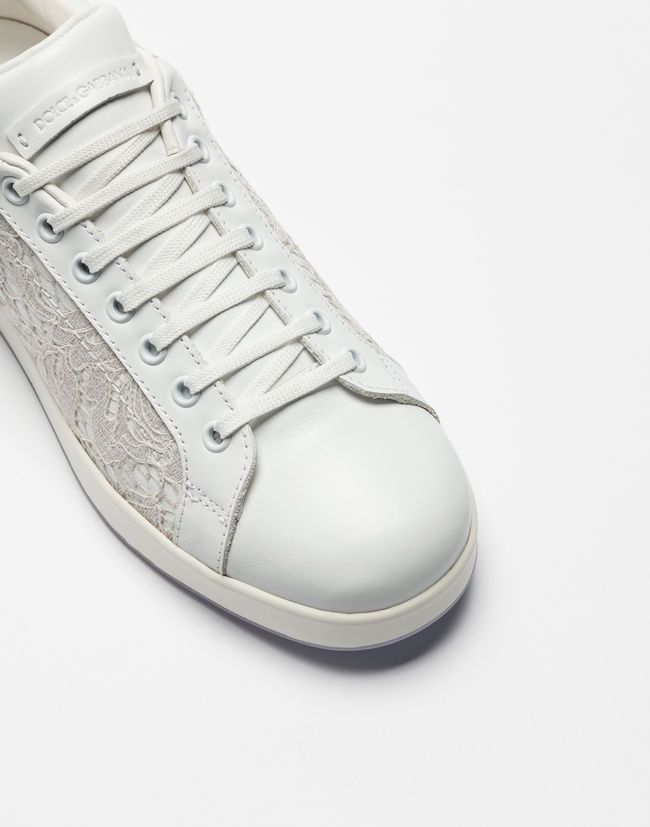 Leather and lace portofino sneakers   Sneakers women, Dolce gabbana online  and Shoes sneakers
