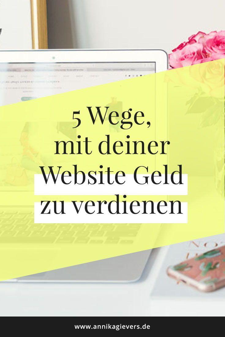 Geld Verdienen Mit Eigener Website