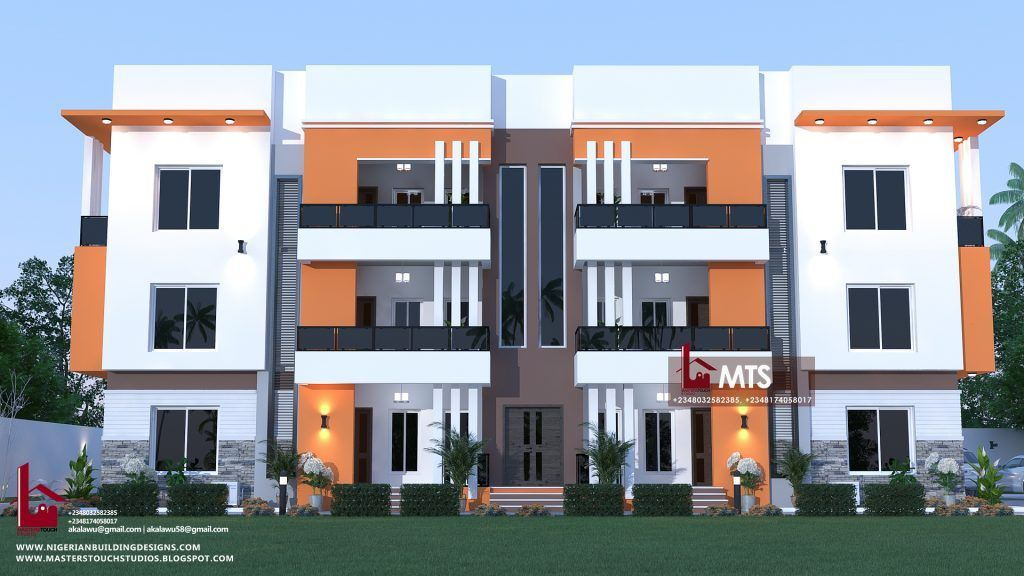6 Units Of 2 Bedroom Flat Rf F2005 Two Story House Design Architect Design House Block Of Flats