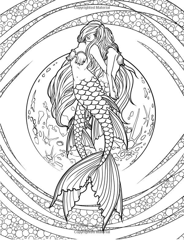 Artist Selina Fenech Fantasy Myth Mythical Mystical Legend Elf Elves Dragon Dragons Fairy Fae Win Mermaid Coloring Pages Mermaid Coloring Book Mermaid Coloring