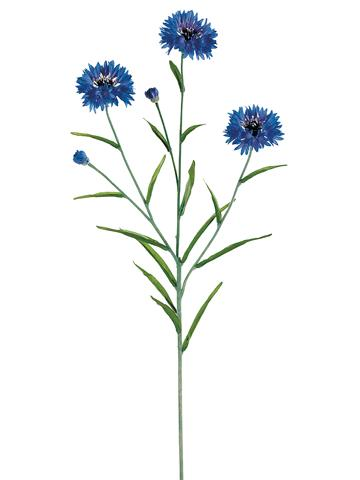 Blue Cornflower Spray Blue Artificial Flowers Afloral Com Wedding Centerpieces Diy Blue Wedding Centerpieces Wedding Centerpieces