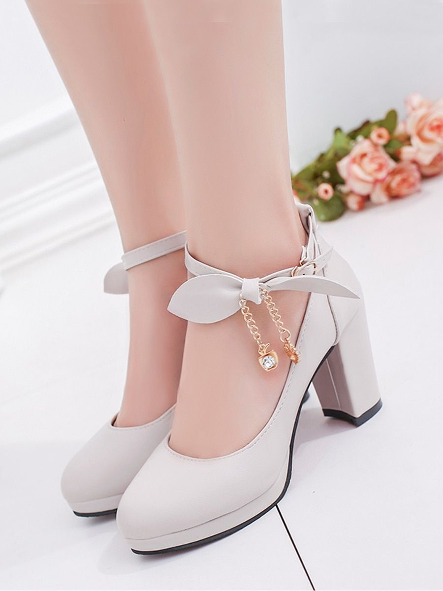 04d0ab68d0 Women's Thick Heel Pumps Thick Heel Low Cut Sweet Trendy Buckled Shoes  online at Jolly Chic,Cash on Delivery Shopping!