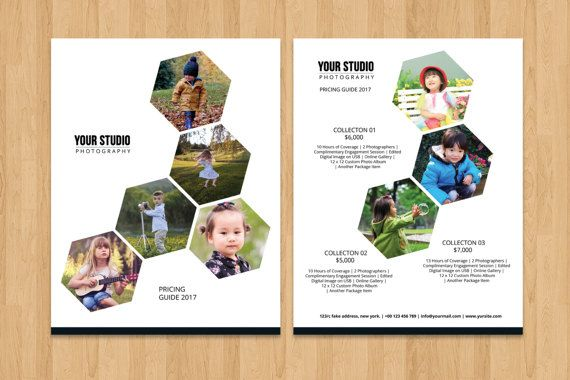 Photography Price List Flyer Template Photography Pricing Guide - Price list brochure template