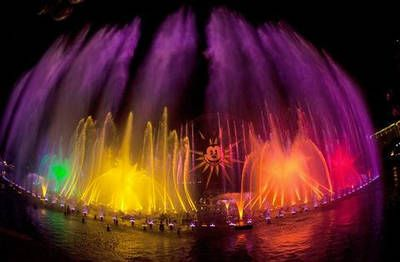 World of Color, at the Disney California Adventure Theme Park