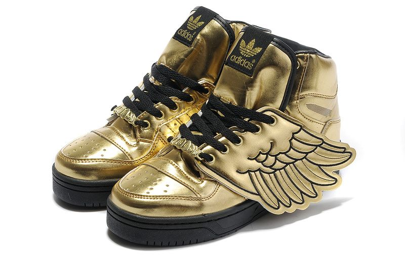Adidas Shoes Store Best Adidas Low Price Jeremy Scott Wings Shoes White Gold Discount