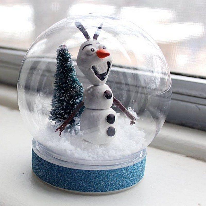 boule à neige faite maison- 38 idées de cadeaux ou décoration