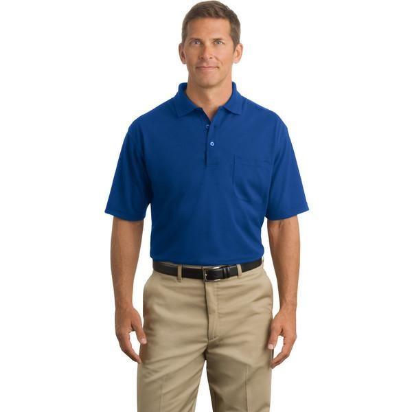 Cornerstone Mens Comfortable Pocket Pique Polo Shirt