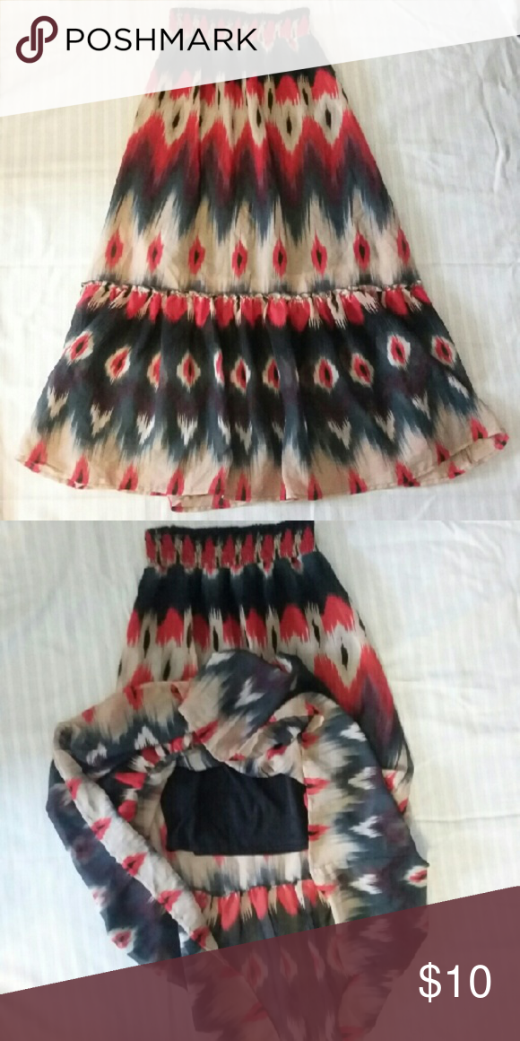 Cassee's long skirt sz.S Cassee's long skirt sz.S Very good used condition The shell of skirt is half share the black liner it's shorter cassee's  Skirts Maxi