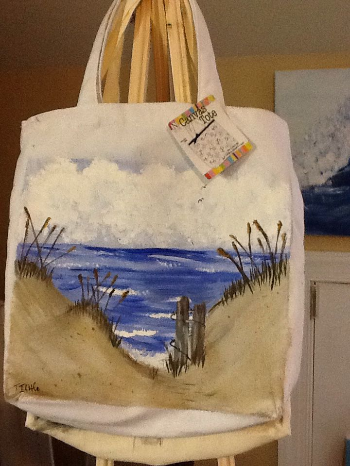 Canvas Bag Painted With Acrylic Paints Painted Canvas Bags