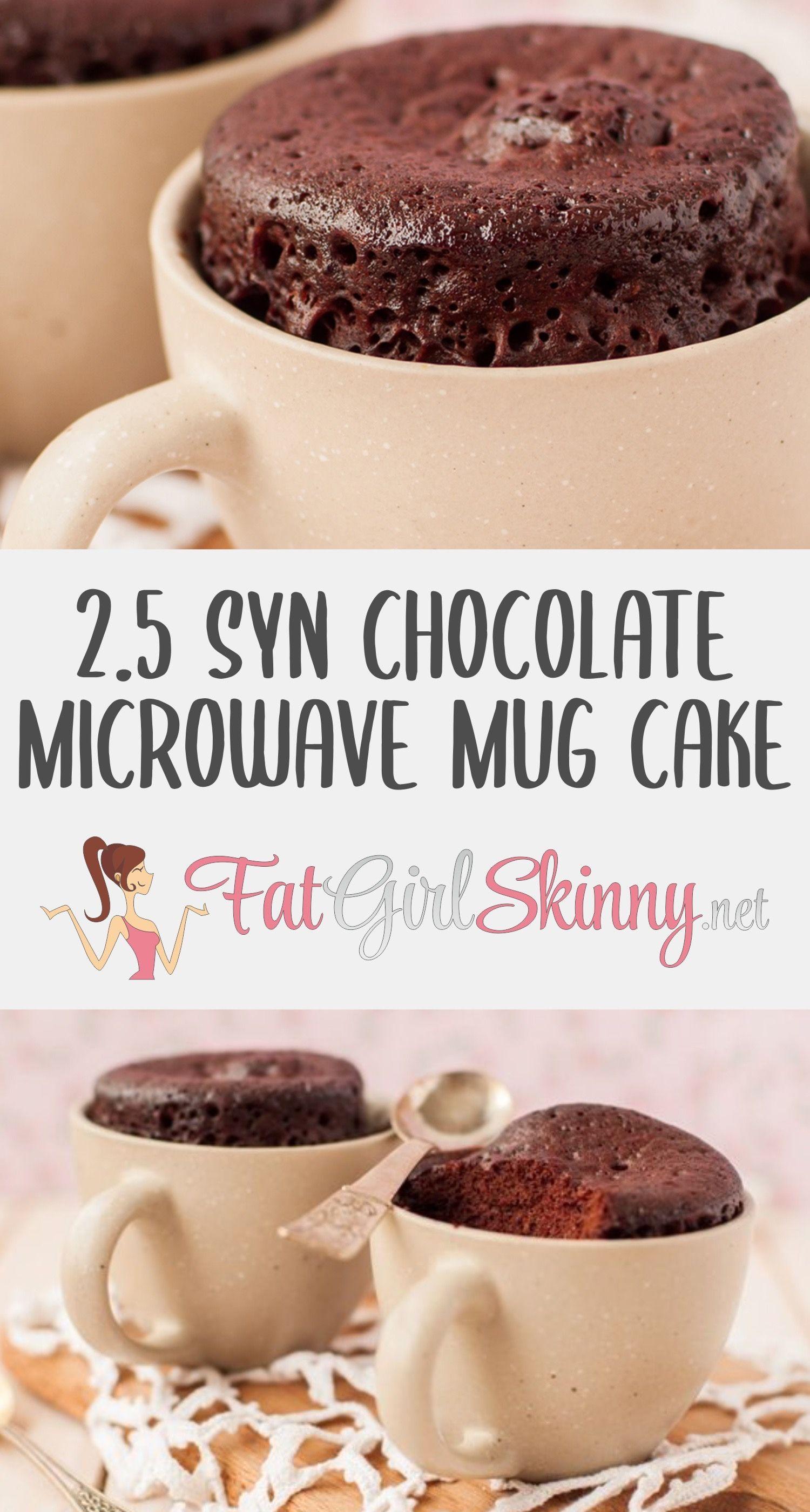 2.5 Syn Chocolate Microwave Mug Cake | Fatgirlskinny.net | Slimming World Recipes & More