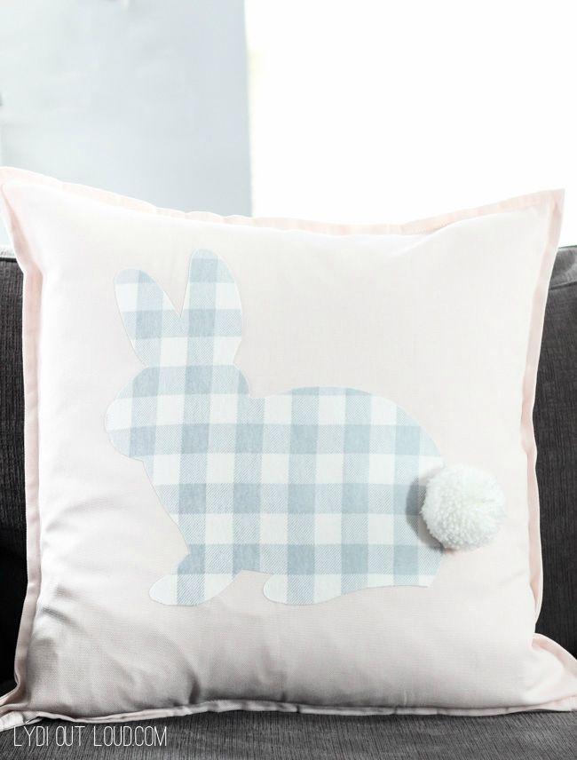 Buffalo Check No sew Rabbit Pillow