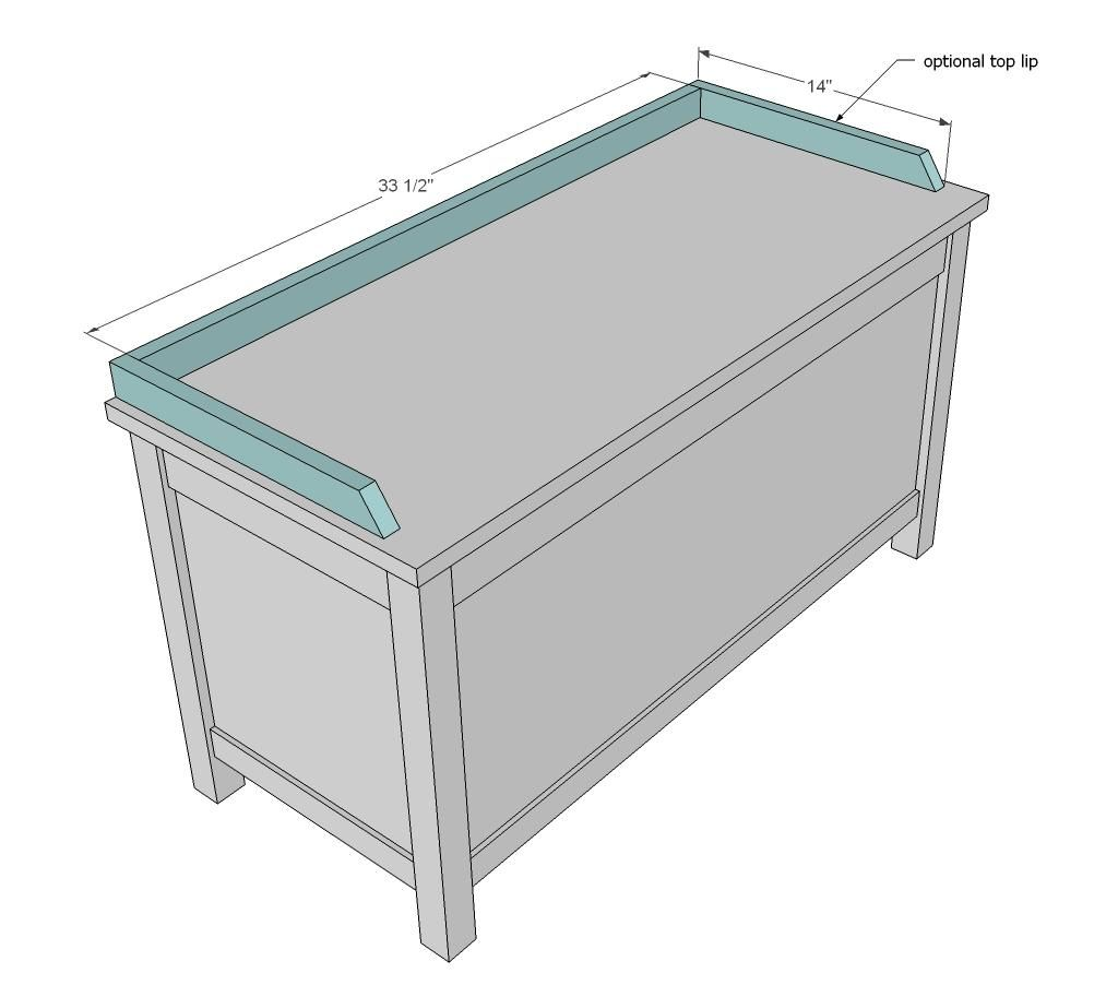 Ana White | Build a Simple Modern Toy Box with Lid | Free ...