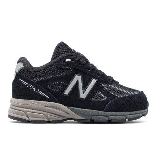 finest selection 41f41 df0d8 Reflective 990v4 Kids' Infant Running Shoes - Black/Silver ...