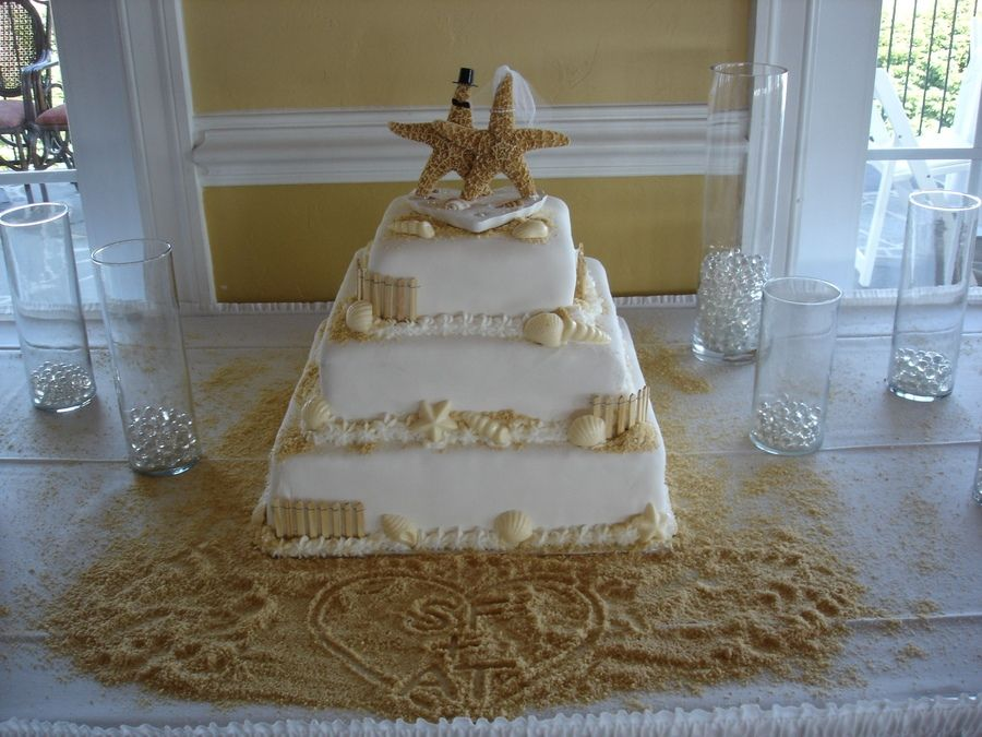 Beach Wedding Cakes Ido Pin By Sarah Chabal On I Do Chair Adirondack Cake Topper Mr Amp Mrs Theme Ideas