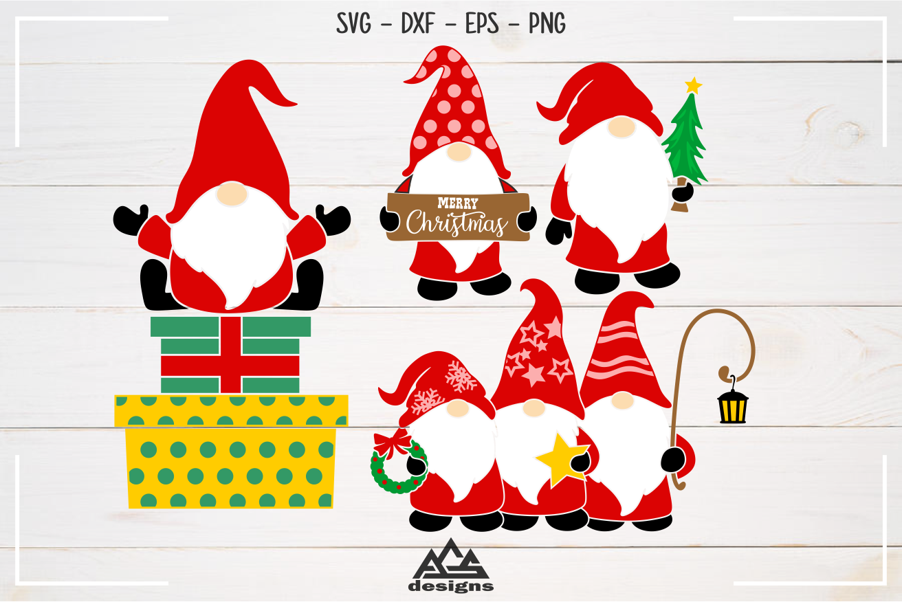 Download Christmas Gnome Packs Svg Design By AgsDesign ...